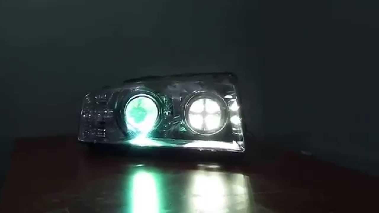 Audi A8 montaż świateł LED do jazdy dziennej - YouTube