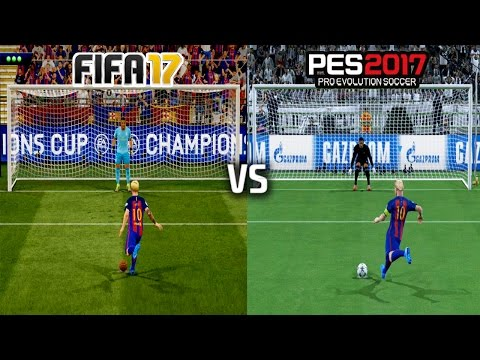 FIFA 17 vs PES 17 - PENALTY KICKS (UEFA Champions League FINAL)