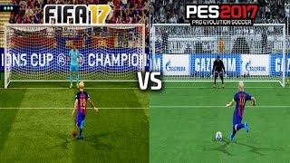 FIFA 17 vs PES 17 - PENALTY KICKS (UEFA Champions League FINAL)
