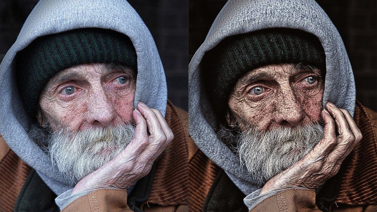 Photoshop Tutorial Dragan Style Photo Effect  Dramatic EyeCatching Portraits  YouTube
