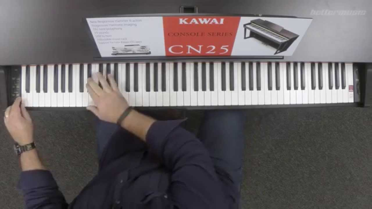 kawai cn25 digital piano review and demonstration better music youtube. Black Bedroom Furniture Sets. Home Design Ideas