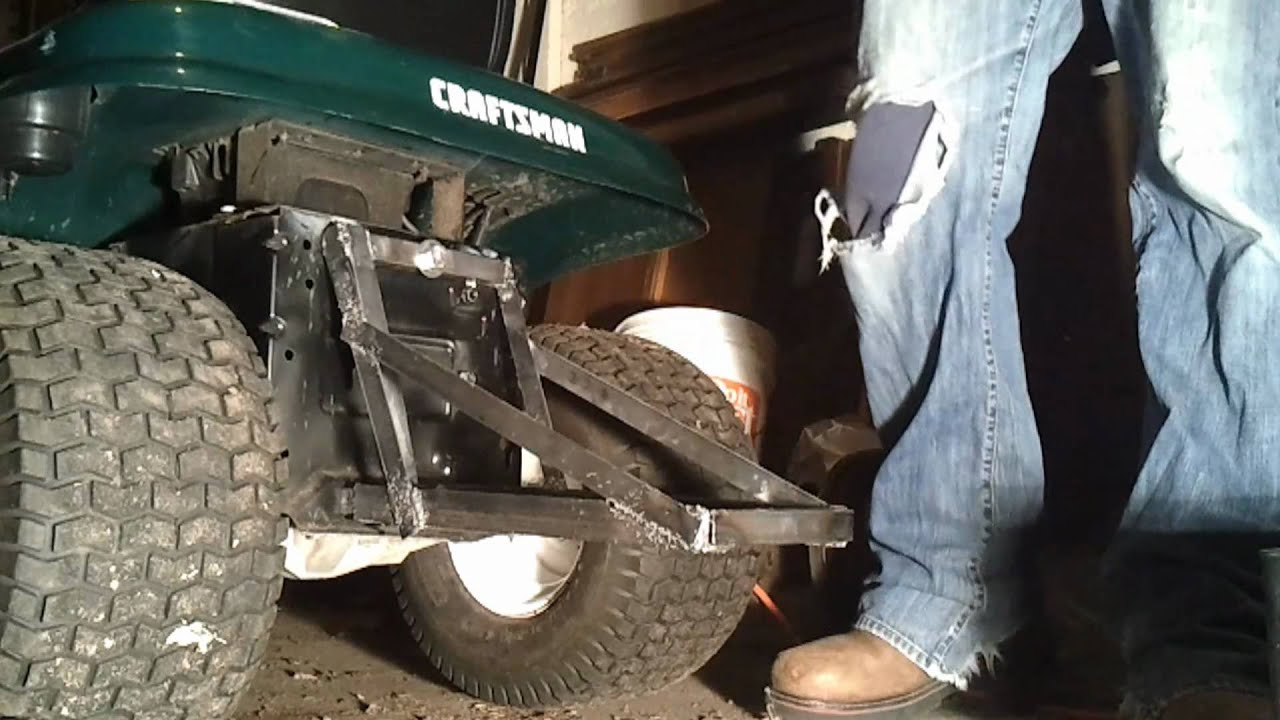 Battery Weight Rack For Craftsman Lt1000 Tractor Youtube