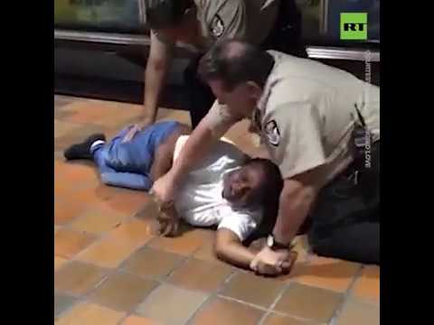 Miami metro security guards body slam woman
