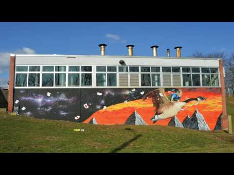Rondout Valley High School Mural by Eugene Stetz