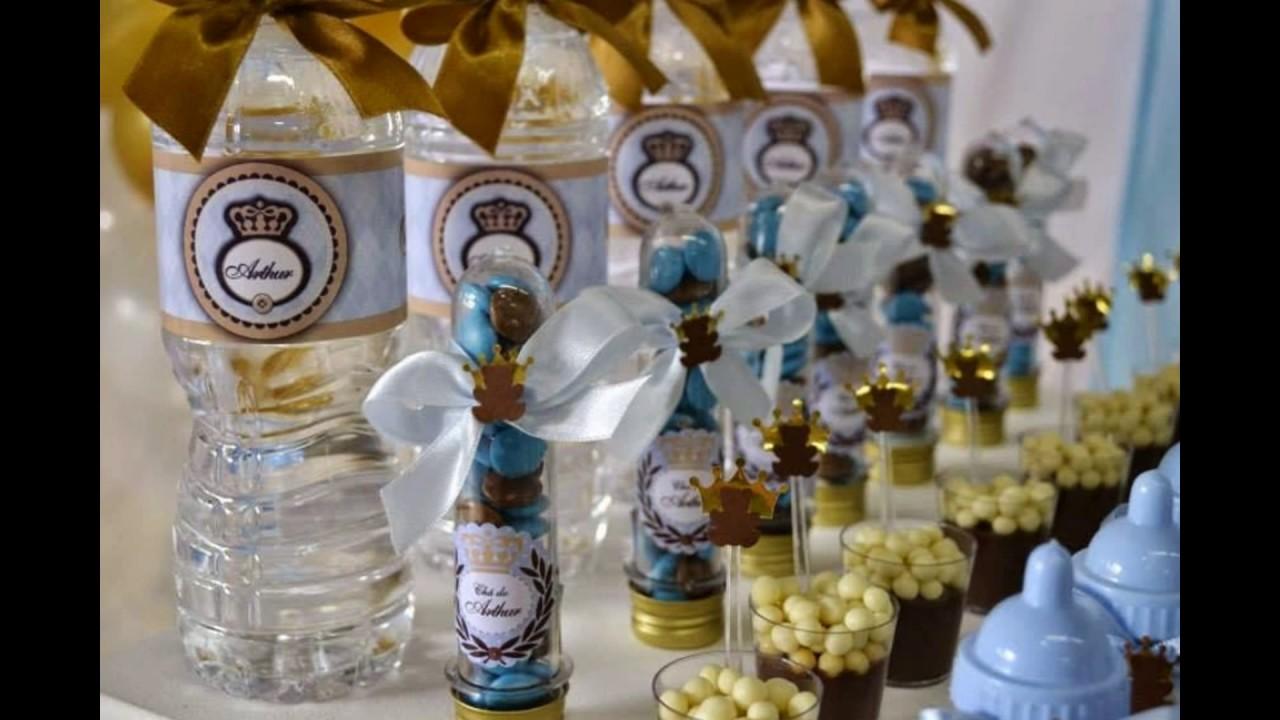 Ideias decoraç u00e3o festa Ursinho principe  YouTube -> Decoração Cha De Bebe Ursinho Principe Simples