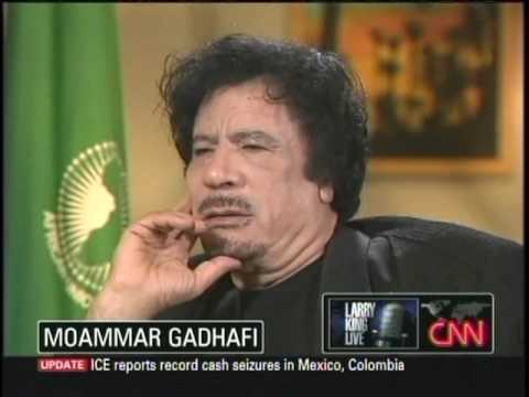 Moammar Gadhafi on Larry King 9/28/09 2 of 5