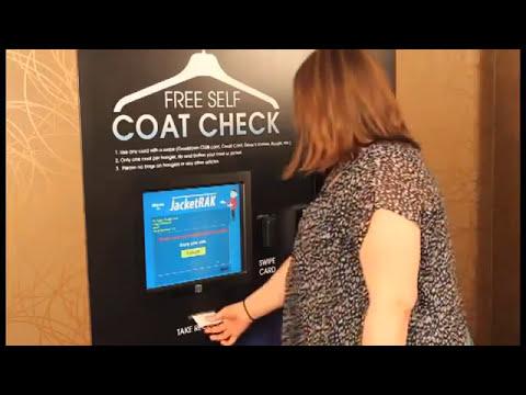 Jacketrak Automated Coat Check System Youtube