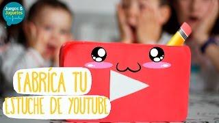 MANUALIDADES FÁCILES CON GOMA EVA // Fabríca tu estuche de Youtube // Juegos y Juguetes en Familia