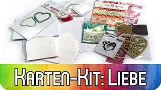 Karten basteln zum Valentinstag | Karten-Kit Januar rund um das Thema Liebe