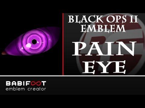 Cod Black Ops 2 Emblem Tutorial Pain Nagato Eye Rinnegan Youtube