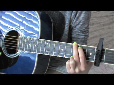 Easy Guitar Tutorial For EVERYTHING HAS CHANGED By Taylor Swift and ...