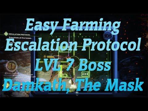 Easy Farming Escalation Protocol LVL 7 Boss Damkath, The Mask