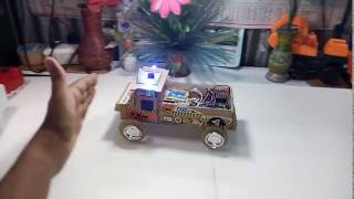 How to make a digital car, arduino car project using by ultrasonic sensor 2018