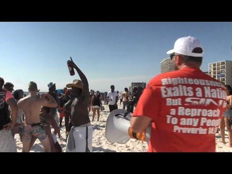 *IMMODESTY* Preachers CRASH Spring Break Party W/the BIBLE | Panama City Beach | Kerrigan Skelly