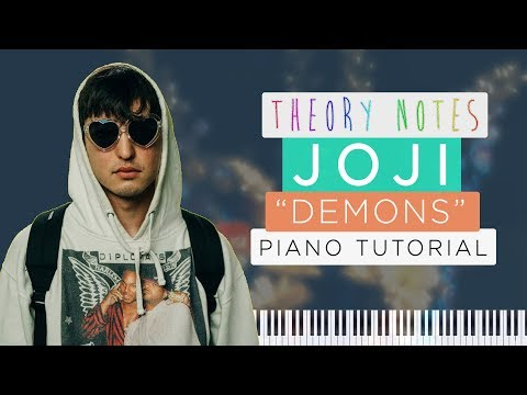 How to Play Joji - Demons | Theory Notes Piano Tutorial