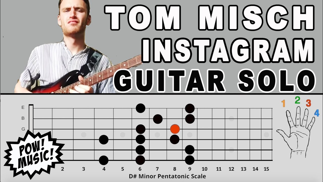 Tom Misch Instagram Guitar Solo Lesson and Music Theory Explanation - Hip  Hop & Neo Soul Style