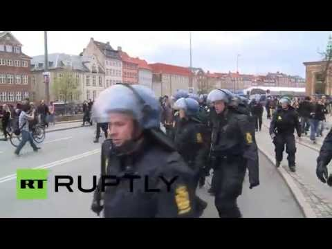 Denmark: Face-off between anti-fascists and police continues in Copenhagen