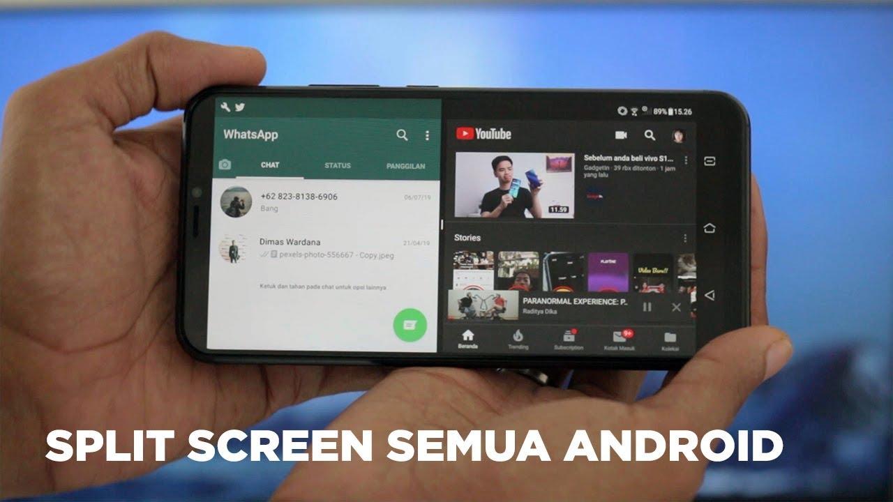 Cara Membagi Layar Jadi Dua Di Semua Hp Android Youtube