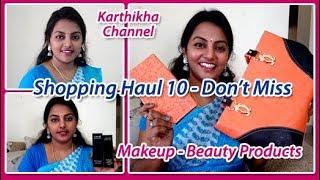 Shopping Haul in Tamil / Beauty (Makeup) Products Shopping Haul 10 - T.Nagar Saravana Stores