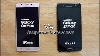 Samsung On Max Vs J7 Max SpeedTest Comparison I Hindi