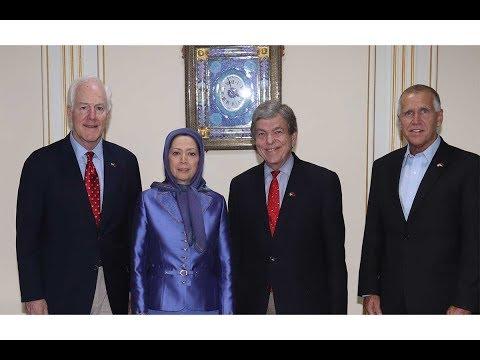 Senior U.S. Senate Delegation, Maryam Rajavi meet in Tirana, the Albanian Capital