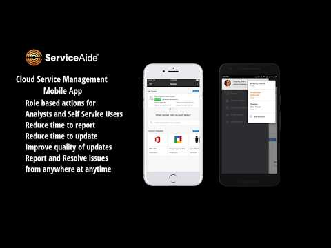 Using the Cloud Service Management Mobile App for Analysts