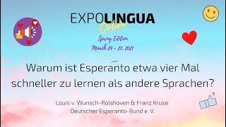 Warum ist Esperanto etwa vier Mal schneller zu lernen als andere Sprachen?