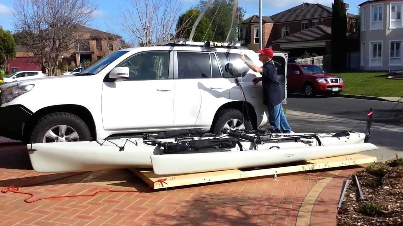 Kayak Hobie Tandem Island Hoist Garage Storage To