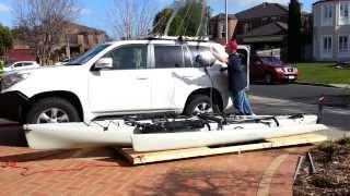 Kayak Hobie Tandem Island Hoist - Garage Storage To Loading On Car Top In 8 Mins
