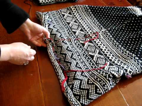 Steeking Armholes in Norwegian Sweater - YouTube