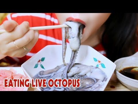 ASMR Raw octopus(Korean Exotic Food), eating sounds | LINH-ASMR