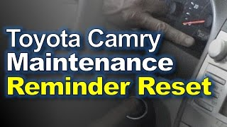 Toyota Camry: Reset Maintenance Reminder Light