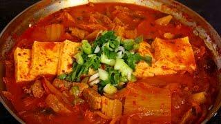 Kimchi Stew (kimchi-jjigae: 김치찌개) English & Korean Captions