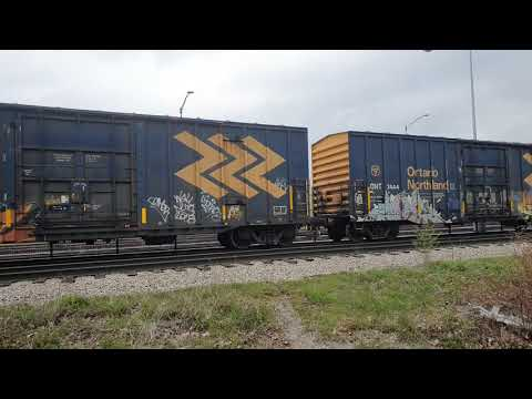 CN freight train - Kitchener, ON - May 15, 2020