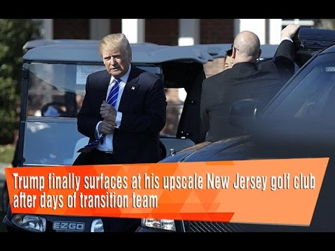 Trump finally surfaces at his upscale New Jersey golf club after days.