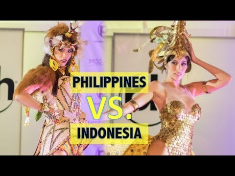 Miss Universe 2017: Miss Philippines VS. Miss Indonesia - NATIONAL COSTUMES COMPETITION (HD)