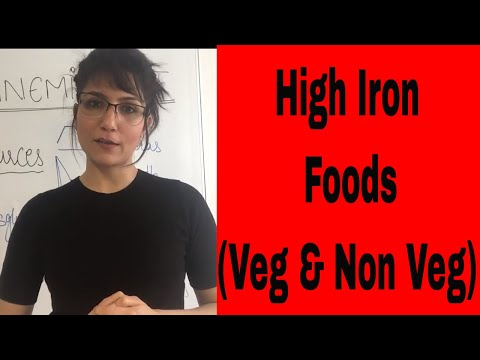 Iron Deficiency Anemia Diet I Food With Iron  ( Veg and Non Veg )
