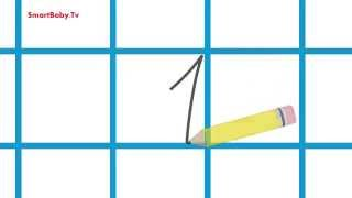 Учимся писать цифру 1. Развивающие Мультфильмы для детей