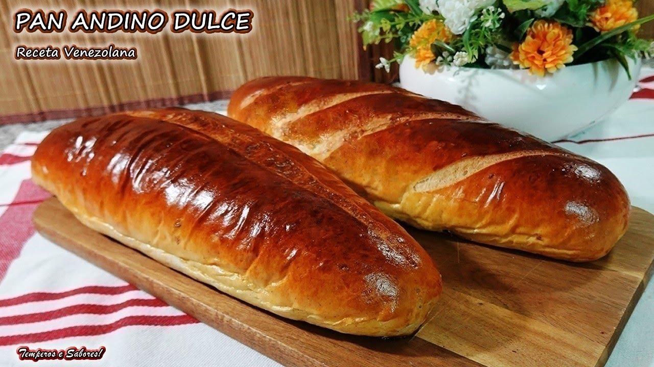 PAN ANDINO DULCE Suave Delicado Delicioso y muy Fácil receta Venezolana