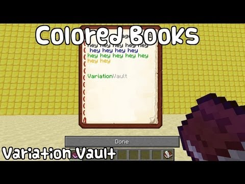 Minecraft Bukkit Plugin - Colored Books - Color custom books with ...