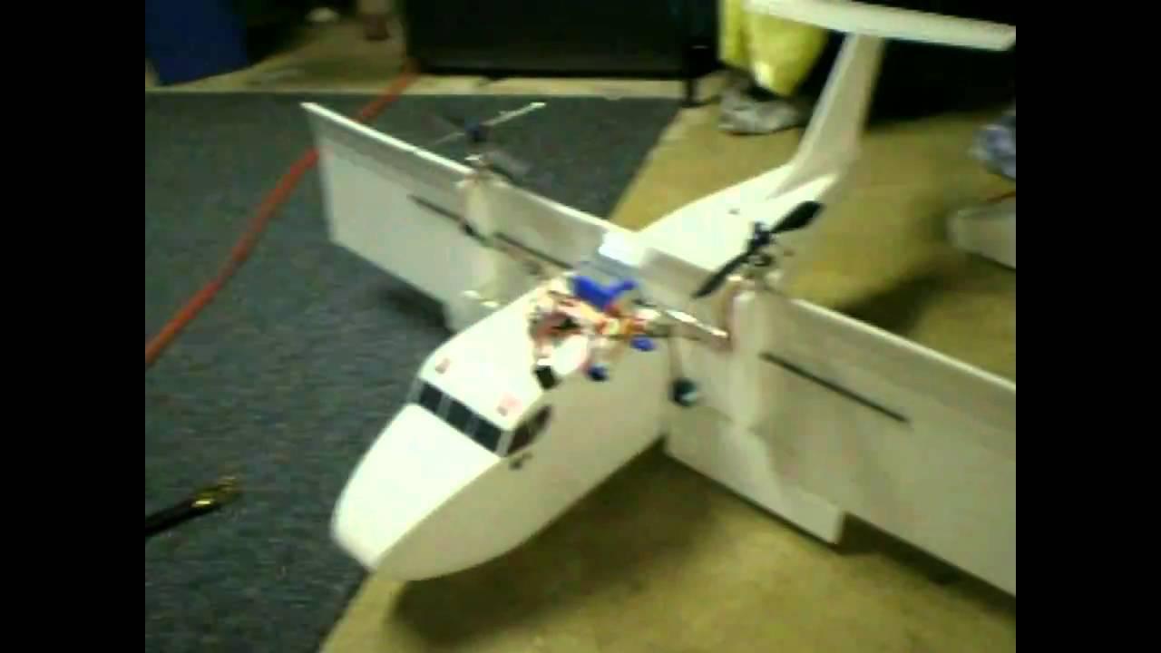 RC VTOL Test #3 TILT ROTOR