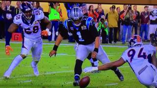 Cam Newton doesn't dive for the fumble
