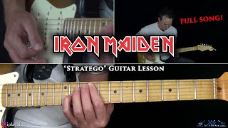 Iron Maiden - Stratego Guitar Lesson (Full Song)