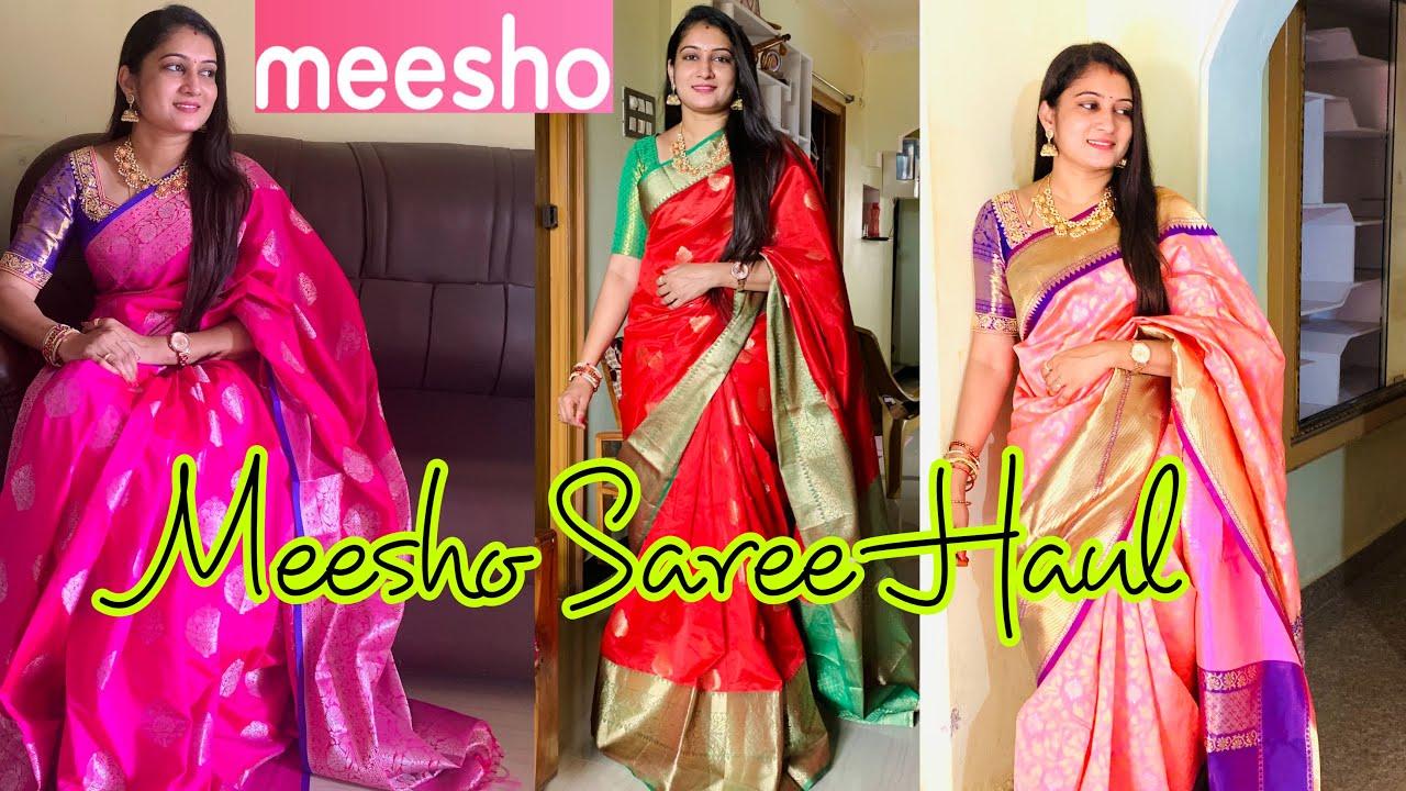 Meesho Pattu Saree Haul 2021 | Below Rs 900/- | Silk Saree Haul