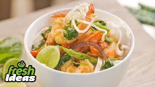 Red Curry Soup Recipe With Prawns, Spinach And Basil