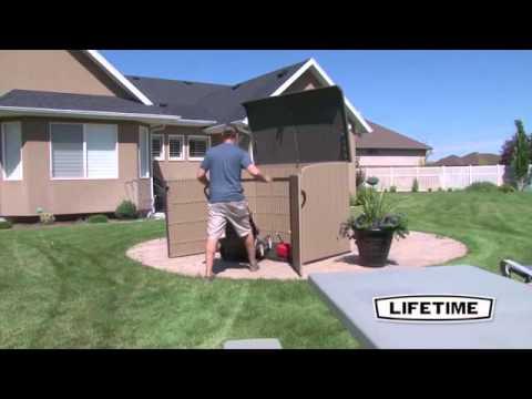 Lifetime 60165 6.25' X 3.5' Horizontal Box Storage Shed