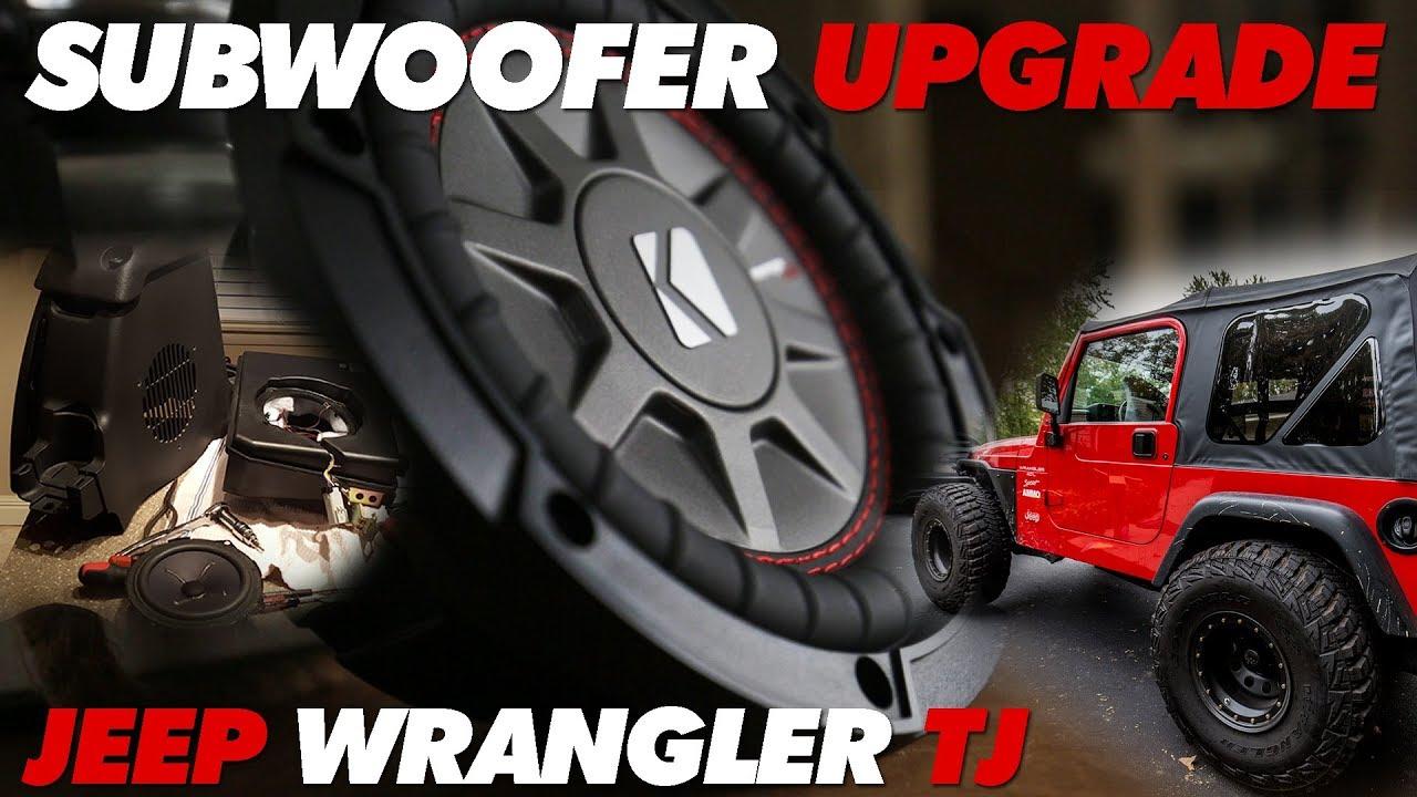 jeep tj center console subwoofer upgrade youtube  jeeptj subwoofer kylesvt