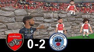 Arsenal vs Manchester city 0-2 | Parody Goals | 12/08/2018