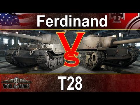 15 x Ferdinand vs 15 x T28 - Kto wygra? - World of tanks