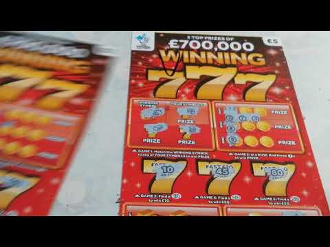 Scratch card.(Whoops.its out of sync)..Full card.....and .Winning 777....